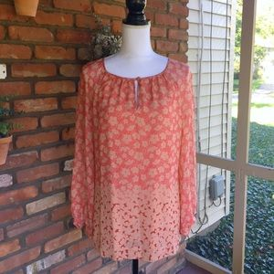 Tory Burch 100% Silk Floral Blouse
